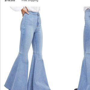Free people just float on jeans